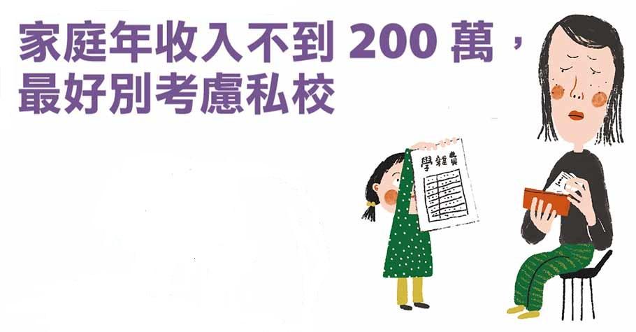 台灣常見狀態:為了給孩子最好的,選擇背30年房貸?財務專家:家庭年收入不到200萬,最好別考慮私校