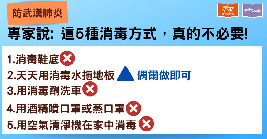 武漢肺炎〉地板、口罩、汽車、空氣清淨機要怎麼消毒?完整防病毒Q&A
