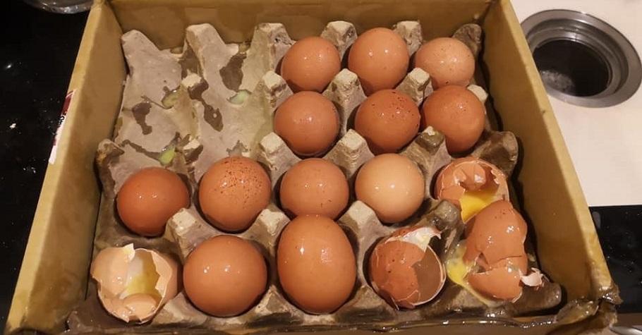 外送員途中跌倒,雞蛋、蘋果、泡麵都破了…先生暖心一句話,表示:「謝謝為我們承擔疫情風險的人」