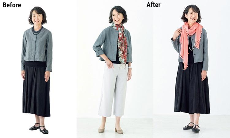 喜歡的顏色不一定適合你!50後穿搭選對色,一條圍巾就能讓皮膚變明亮
