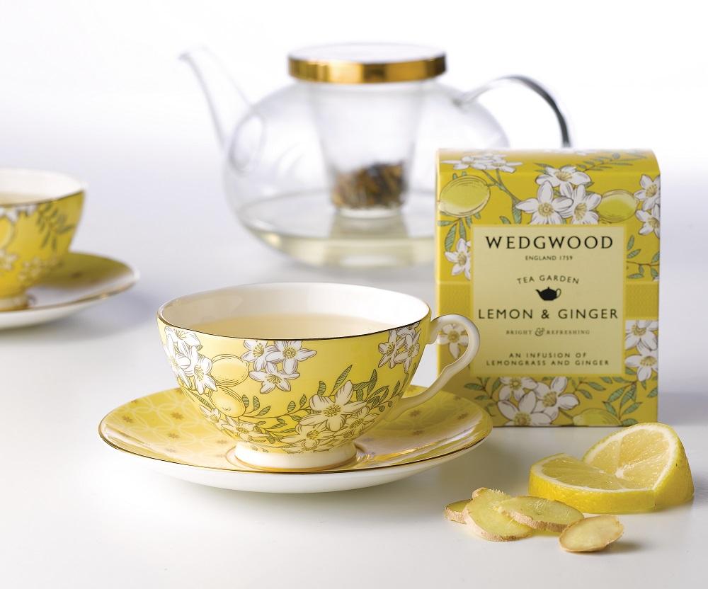 Wedgwood 茶之花園午茶三件組_檸檬黃