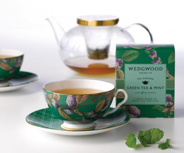 Wedgwood|茶之花園午茶三件組_薄荷綠