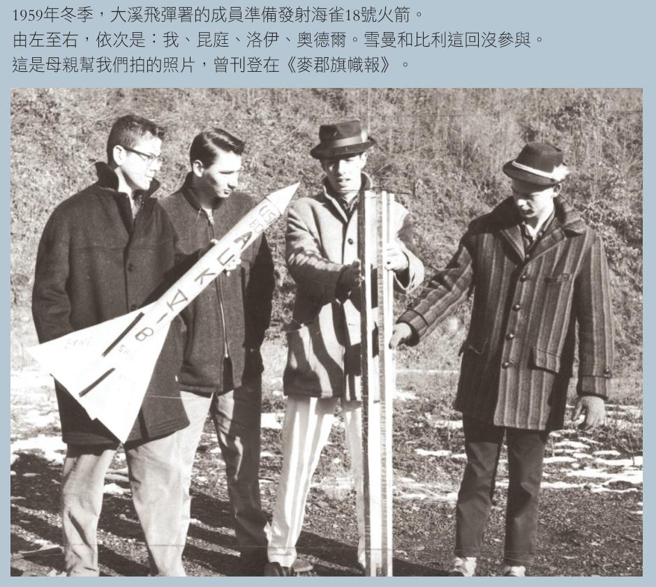 1959年冬季,大溪飛彈署的成員準備發射海雀18號火箭。